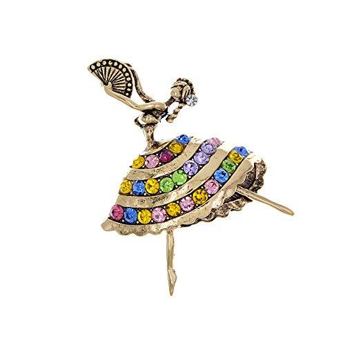 KXBY Mogelijkheid Dansende Broche Strass Pin Vintage Broches GiftWomen's Broches Dames Pins
