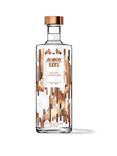 Absolut Elyx – Per Hand destillierter Luxus Wodka aus Schweden – Premiumwodka in edler Flasche – 1 x 1,5 L