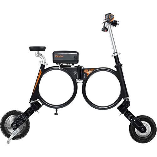 ZYT 8 Pollici Pieghevole  Bicicletta elettrica con Borsa Trolley, velocità Max 25-35 km/h, Bicicletta elettrica Leggera con targeting per App, Foro di Ricarica USB, per Donna  Uomini,Nero