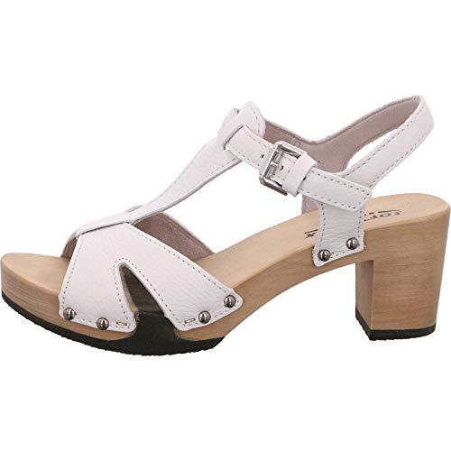Softclox Damen Sandaletten -44 3482 Rosaria weiß 639149