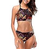 J-o-J-o's B-izar-re Adve-ntu-re - Conjunto de bikini halter para mujer de verano trajes de baño 2 piezas acolchado ropa de playa