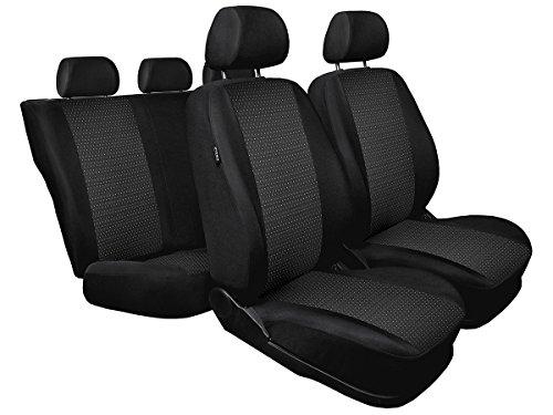 UP ! Sitzbezüge nach Maß Autoplanen perfekte Passform Schonbezüge Sitzschoner Velour + Strickpolster ®Auto-schmuck (UP! 1/2 pr-1)