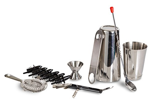ChefLand 13 Piece Stainless Steel Bar Set/Professional Bar T...