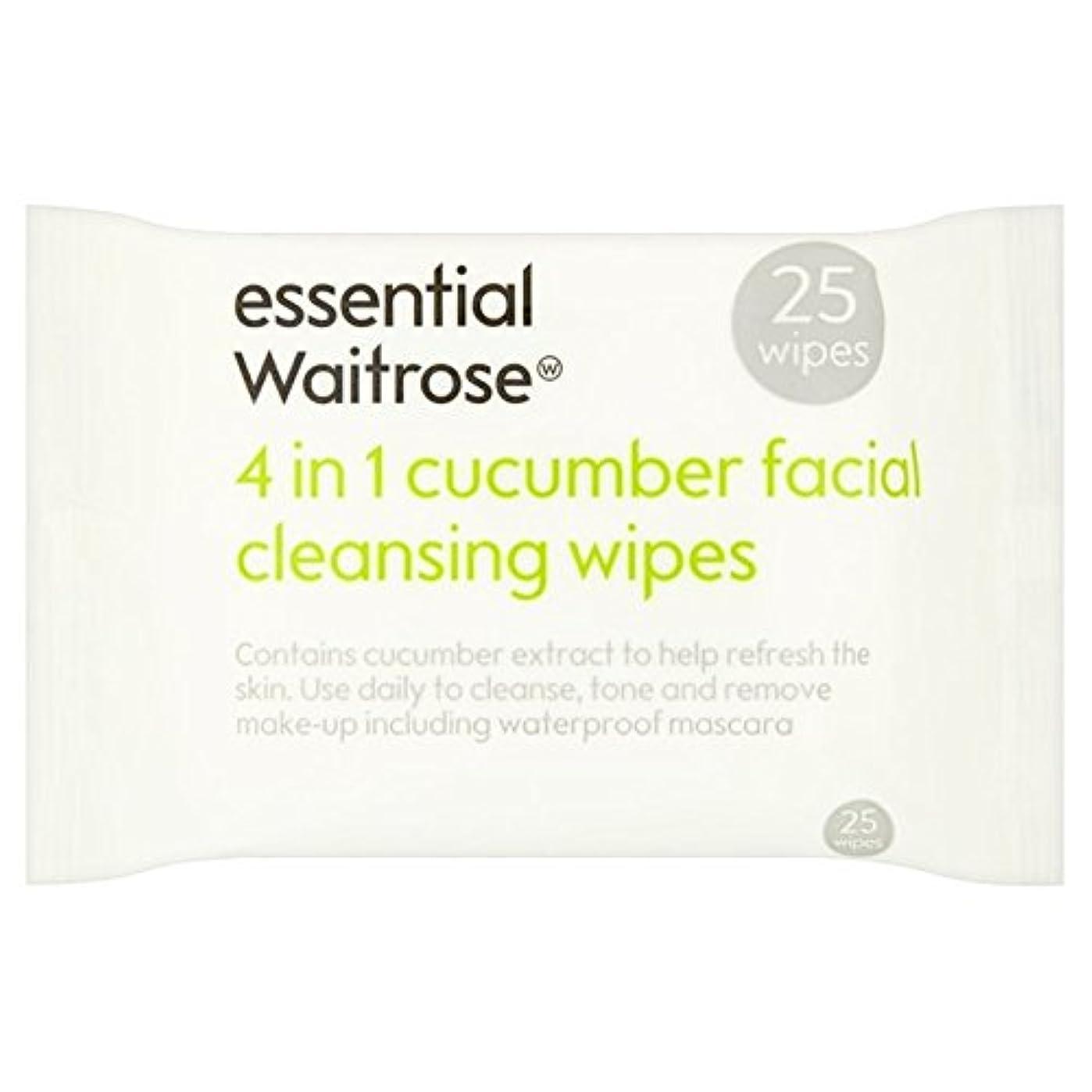 インシュレータ既婚くしゃみCucumber Facial Wipes essential Waitrose 25 per pack (Pack of 6) - キュウリ顔のワイプパックあたり不可欠ウェイトローズ25 x6 [並行輸入品]