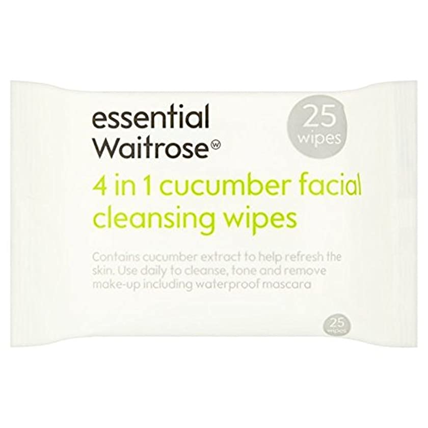 実現可能性満員考案するCucumber Facial Wipes essential Waitrose 25 per pack (Pack of 6) - キュウリ顔のワイプパックあたり不可欠ウェイトローズ25 x6 [並行輸入品]