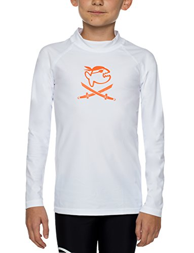 IQ UV Kinder Uv-shirt Iq 300 Kids Long Sleeve Jolly Fish UV-Schutz T-Shirt, Weiß, 116/122