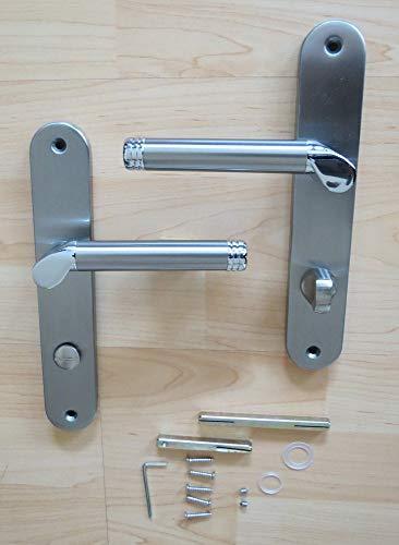 Türdrücker WC-Langschild Türbeschlag Edelstahl NewStyle Drücker Tür Toilettentür WC-Drückergarnitur Türgriffe Türbeschläge