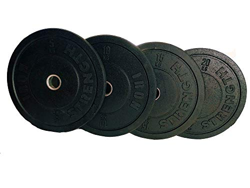 Hi Temp Bumper Weight Plates 5kg 10kg 15kg 20kg Gym Weightlifting Fitness Olympic good for Bench Press, Squats, Deadlift, Pullover, Biceps Curl, Triceps Extension, Row, Shrug (10)