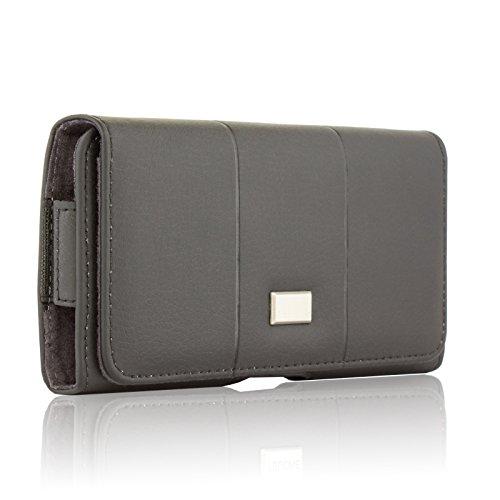 BRALEXX Elegante Quertasche Gürteltasche Handy Clip Belt Schutz Bag Hülle Etui Hülle Tasche mit Gürtelhalterung für Samsung Galaxy M20 / A50 / A30 2019 SCHWARZ