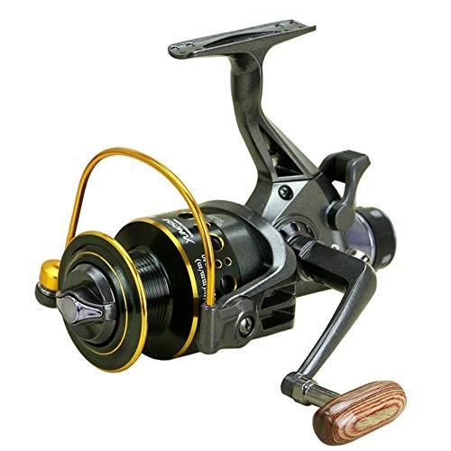 PLBB3K Carrete de Pesca Nueva MG3000-6000 Diseño Freno de Doble Carrete de la Pesca del Calamar Pesca Súper alimentador Giratorio Carrete Giratorio Pesca Rueda-Negro 6000 Series Carretes de Spinning