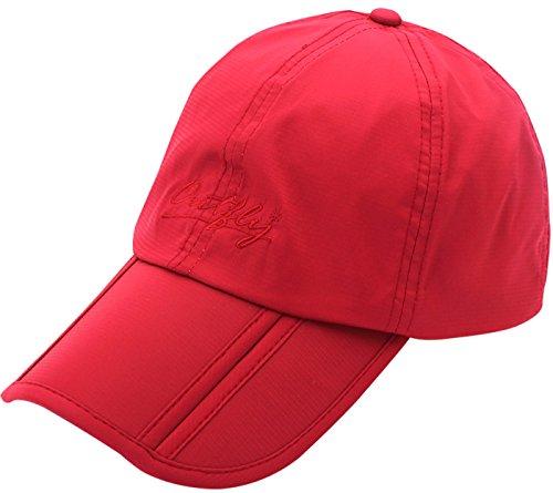 Outfly - Gorro de Verano para Hombre Ligero Gorra de Golf para Mujer Hombre Gorro Seca Rápido Gorro Deportivo Running Cap Sombrero - Rojo