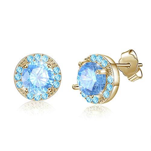 QIN 925 sterling silver earrings women simple earrings cubic zirconia stud earring