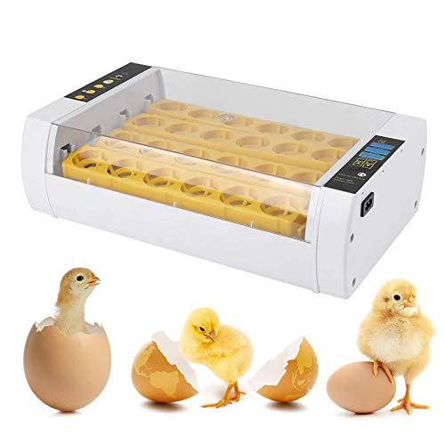 NXL Inkubator Vollautomatisch 24 Eier Brutkasten Brutmaschine Geflügel Motorbrüter Brutautomat Hühner Geflügelinkubator Digitale LED-Anzeige Temperaturgesteuert