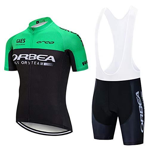MTBHW Conjunto Traje Ciclismo para Verano Maillot Ciclismo y Pantalones Cortos Bicicleta con 3D Gel Pad Equipacion Ropa Ciclismo Hombre