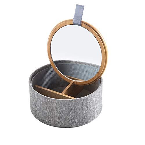 Caja de Joyas Joyero tela de Inicio Con Espejo portable de l