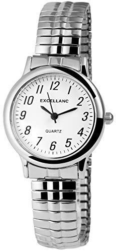 Excellanc Damen - Uhr Zugarmband Metall Confort Line Analog Quarz 1700001-003
