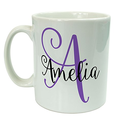 The Supreme Gift Company Name on a mug with Monogram Personalised Gifts for her 10oz Ceramic Mug