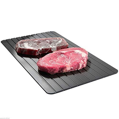 SZXCX 3 größe Heißer Schnelles Auftauen Tablett Auftauen Tiefkühlkost Fleisch Obst Schnelles Auftauen Auftauen Platte Brett Auftauen Küchenhelfer - Schwarz - S