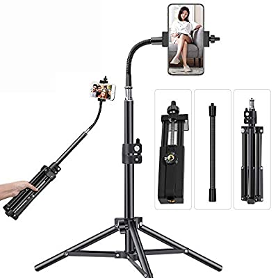Phone Tripod PIXEL Adjustable Phone Tripod for Video Recording, Vlogging/Streaming/Photography Rotatable Live Video Stand Compatible with iOS/Android and Most Mobile Phones from PIXEL