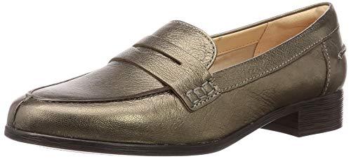 Clarks Damen Hamble Loafer Slipper, Grau (Stone Met Lea Stone Met Lea), 39 EU