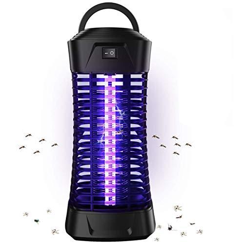 Lukasa Moustique Tueur Lampe, 6W UV Electrique Moustique Killer Lampe, Electrique Anti Insectes Répulsif, Tueur De Moustique Lampes Répulsif Anti Insecte Zapper, Efficace Portée 30m²