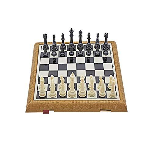 Juego de ajedrez Juego de ajedrez magnético de Viaje con Tablero de ajedrez Plegable Bolsa de Almacenamiento para Piezas Tablero de ajedrez de Viaje A