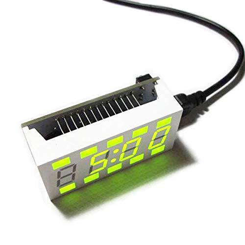 Módulo electrónico Mini Kit de reloj electrónico de escritorio blanco simple creativo DIY C51 Equipo electrónico de alta precisión