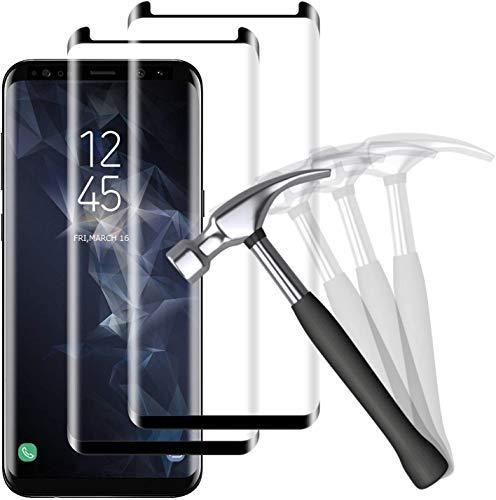 NUOCHENG Lot de 2 Verre Trempé pour Samsung Galaxy S9 Film Protection Écran, Vitre HD, Anti Rayures, Anti Empreintes digitales Film Protecteur Samsung Galaxy S9