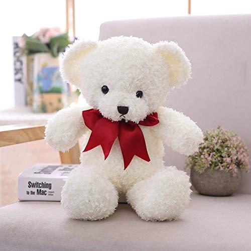 N / A Lovely Hot 40cm Kawaii Cartoon Bow Tie Ositos de Peluche Juguetes de Peluche Animales de Peluche Fluffy Bear Dolls Soft Kids Toys Girls Lovers Gift 40CM