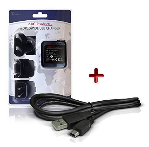 ABC Products® Ersatz Olympus Akku Ladegerät / Netzteil A514, F-2AC, F-3AC + CB-USB4, KP21, KP22 USB-Kabel für Olympus Smart D700, D-700, VG-110, VG-150 Digitalkamera + VoiSquare DS-3500, DS-2500, DS-F1 Diktiergeraet / Voice Recorder Notetaker etc - Weltreise - EU/UK/USA +