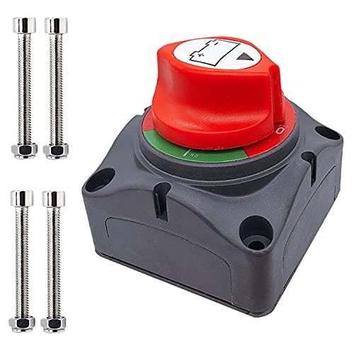 Jeromeki Interruptor de BateríA, Interruptor de DesconexióN Interruptor Maestro de Corte de EnergíA de BateríA de 12-48 V para AutomóVil, VehíCulo, RV y Barco