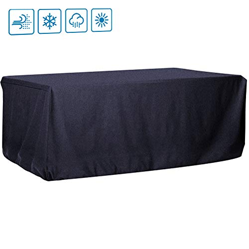 Onlyme Pool Billiard Table Cover, Waterproof Dining Table Cover, 7ft, Black