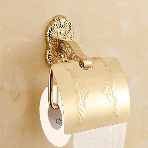 Porte-Serviette en Papier Or Salle de Bains Matériel Pendentif Toilette Étanche Boîte à Mouchoirs en Papier Porte-Papier Toilette Porte-Papier Rollsnownow