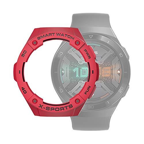 zhangxia caso del reloj para Huawei Watch GT2e Smart Watch TPU Funda protectora, color: rojo+negro