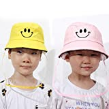 2Packs Kids Boys Girls Fisherman Bucket Hats Protective Hats for Children Sun Protection Hats Kids Summer Play Hat with Removable Face Shield Yellow and Pink