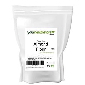 yourhealthstore Premium sin gluten, harina de almendras finamente molida 1kg, sin OMG, blanqueado, keto, vegano, de España (bolsa reciclable).