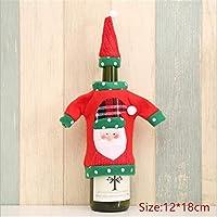 1個のクリスマスワインボトルダストカバーバッグディナーテーブルの装飾新年のクリスマスの家の装飾
