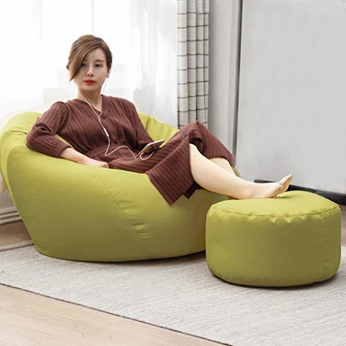 Faules Sofa Sofa Sack Sitzsack Stuhl For Erwachsene - Lazy Sofa-Extra Große Größe Bean Bag Chair- + Fußbank-Soft-Mikrofaser-Cover - Hohe Qualität Umwelt Particle Filling -Wohnraum, Schlafzimmer
