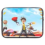 Maletín para portátil Cloudy with A Chance of Meatballs Laptop Bag 15 Inch Sleeve Case Neoprene Protective Case/Notebook Computer Pocket Case/Tablet Briefcase Carrying Bag Compatible/Soft Carrying