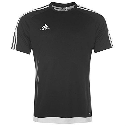 f48d1f7ea adidas Mens 3 Stripe Estro T Shirt Short Sleeved Tee Top Climalite