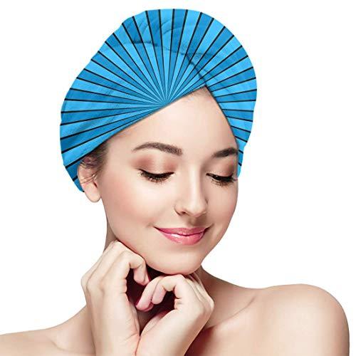 XBFHG Gorro de baño para el cabello seco Resumen dinámico Rayos solares Luz Secado rápido Toalla envuelta Ducha para adultos Gorro de baño