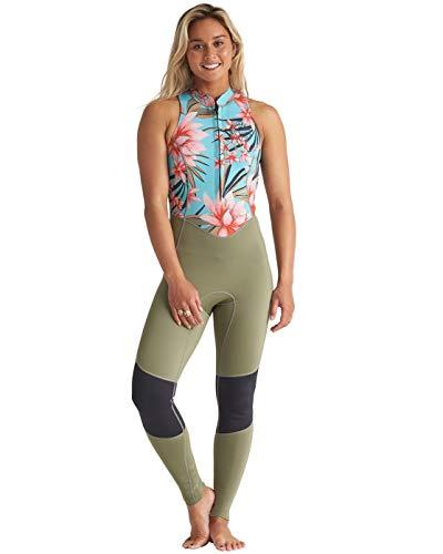 Billabong Damen Salty Jane 2mm Front Zip Wetsuit - Waterfall - Ärmellos mit Langen Beinen - Racer-Rücken