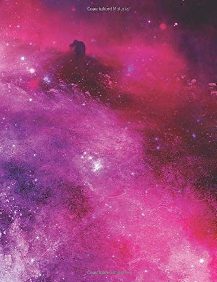 スキー緊張する見つけるCornell Notebook: Cornell Notebook 110 Pages (7.44 x 9.69) Cornell Notes Notebook Book Space Galaxy Stars Pink Purple Blue