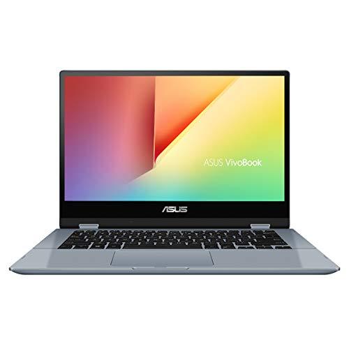 ASUS VivoBook Flip 14 TP412FA-EC381T - Portátil convertible de 14' FullHD (Intel Core i3-10110U, 8GB RAM, 256GB SSD, Windows 10 Home) Azul Galaxia - Teclado QWERTY español