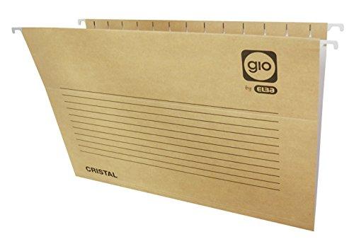 Elba Gio - Caja de 25 carpetas colgantes para cajón, A4, bicolor