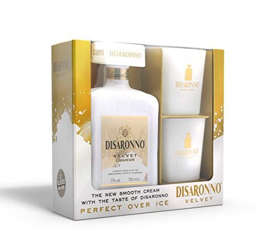 Licor de crema Disaronno velvet - 70cl - Pack con dos vasos