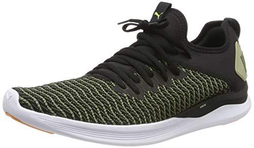 Puma Ignite Flash Daylight, Zapatillas de Running para Hombre, Negro Black-Olivine, 44 EU