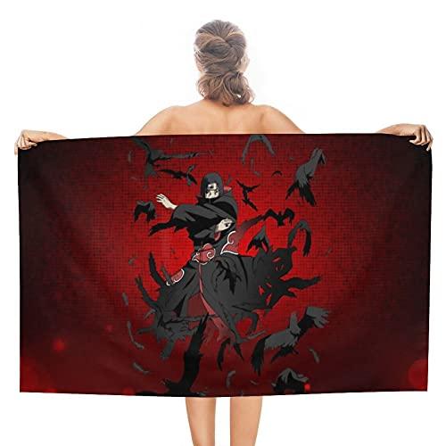 Anime Naruto Uchiha - Toallas de baño absorbentes suaves para baño, secado rápido, toalla de playa de gran tamaño para mujeres y hombres
