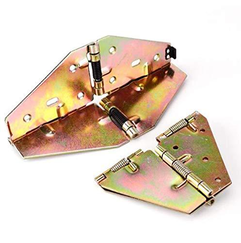 [2 piezas] 180 ° Bisagra de mariposa con mesa redonda de metal, bisagra plegable de mesa, retráctil y plegable, bisagra de resorte con solapa para mesa de comedor