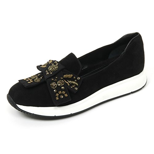 Car Shoe B9710 Mocassino Sportivo Donna Sneaker Nero Shoe Woman [37.5]